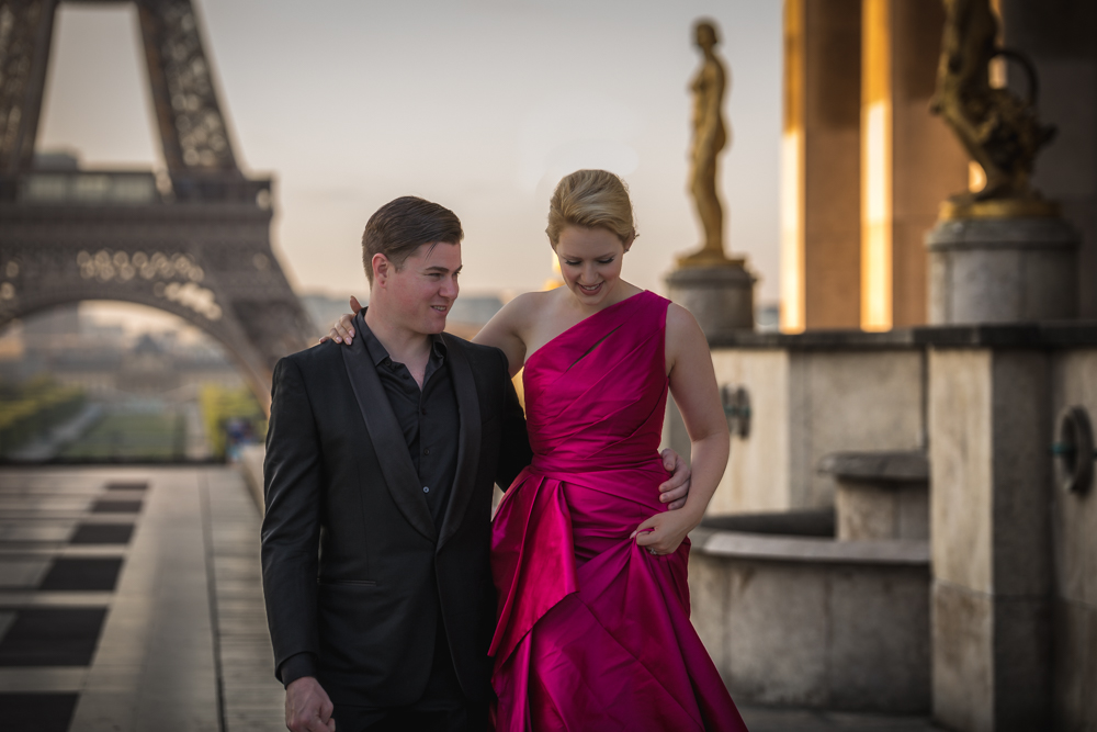 Paris, France, Eiffel Tower, Engagement Shoot