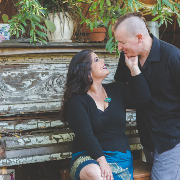 The Fire Garden: Engagement Shoot in Bonsall