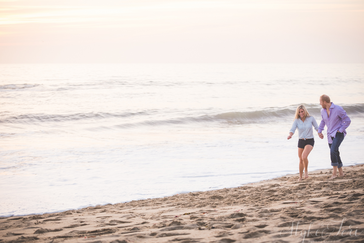 Half Moon bay beach engagement shoot