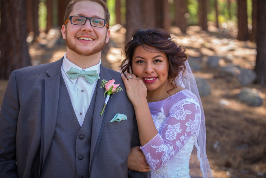 Let's Dress Up & Head to the Woods: Outdoor Wedding in Reno, Nevada