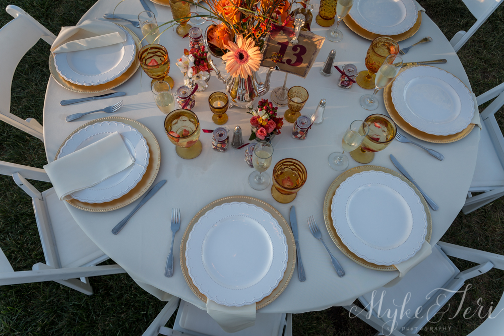 table settings fall pumpkin wedding