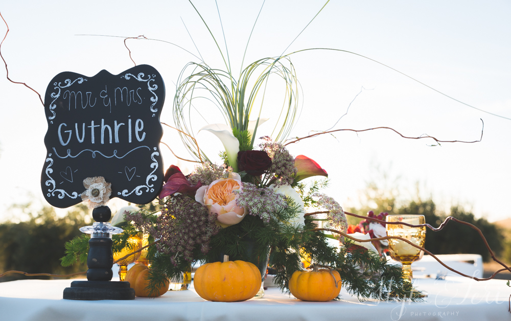 sweetheart table fall pumpkin vintage