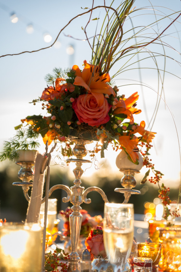 candelabro pumpkin vintage wedding decor