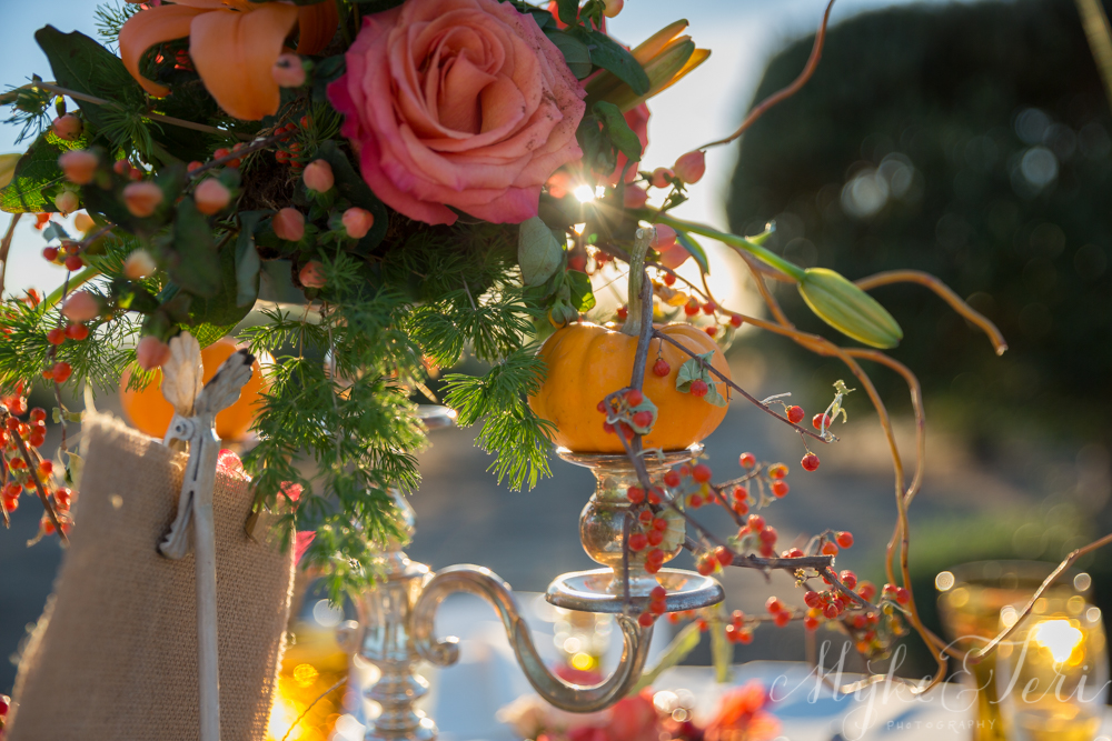 vintage pumpkin wedding decor