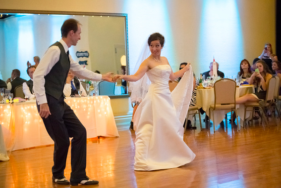 swing dancer wedding reception