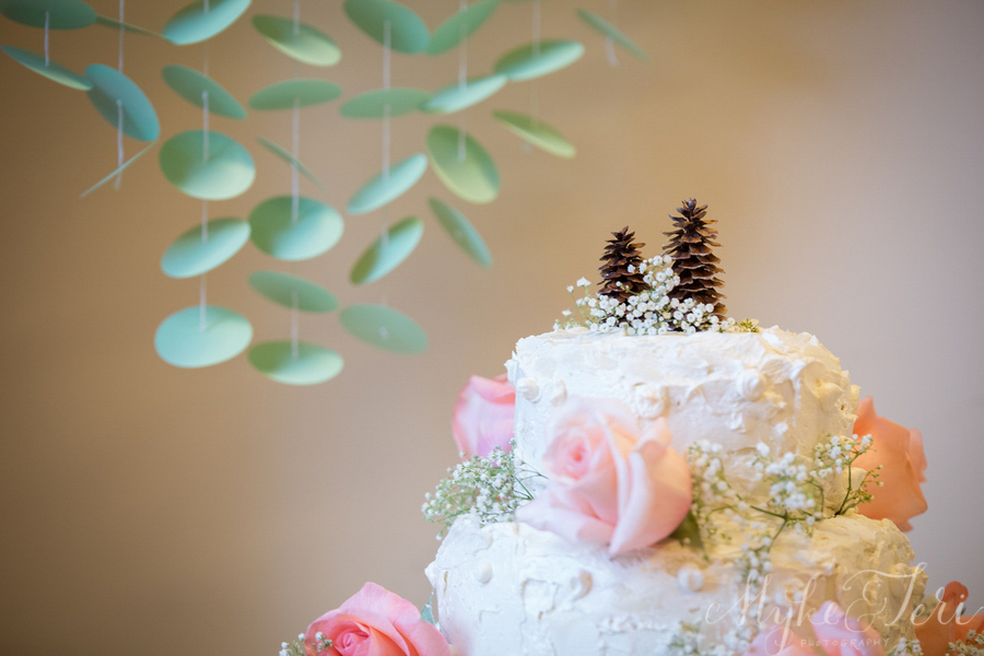 pinecone wedding cake topper