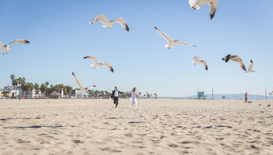 You + Me + The Big Blue Sea: Venice Beach Destination Wedding