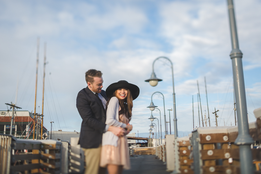 Chocolate Romance + The Wharf: San Francisco Engagement Session