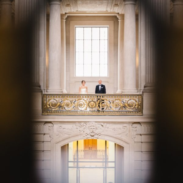 Elegance + Grace at Their Own Black [bow] Tie Affair: San Francisco City Hall Destination Elopement
