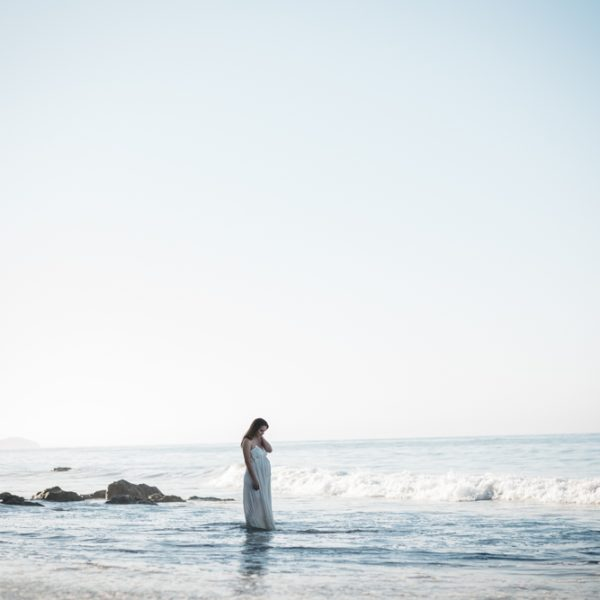 Golden Glows + Rays of Happy: Parent-to-Be Session at Matador Beach, California