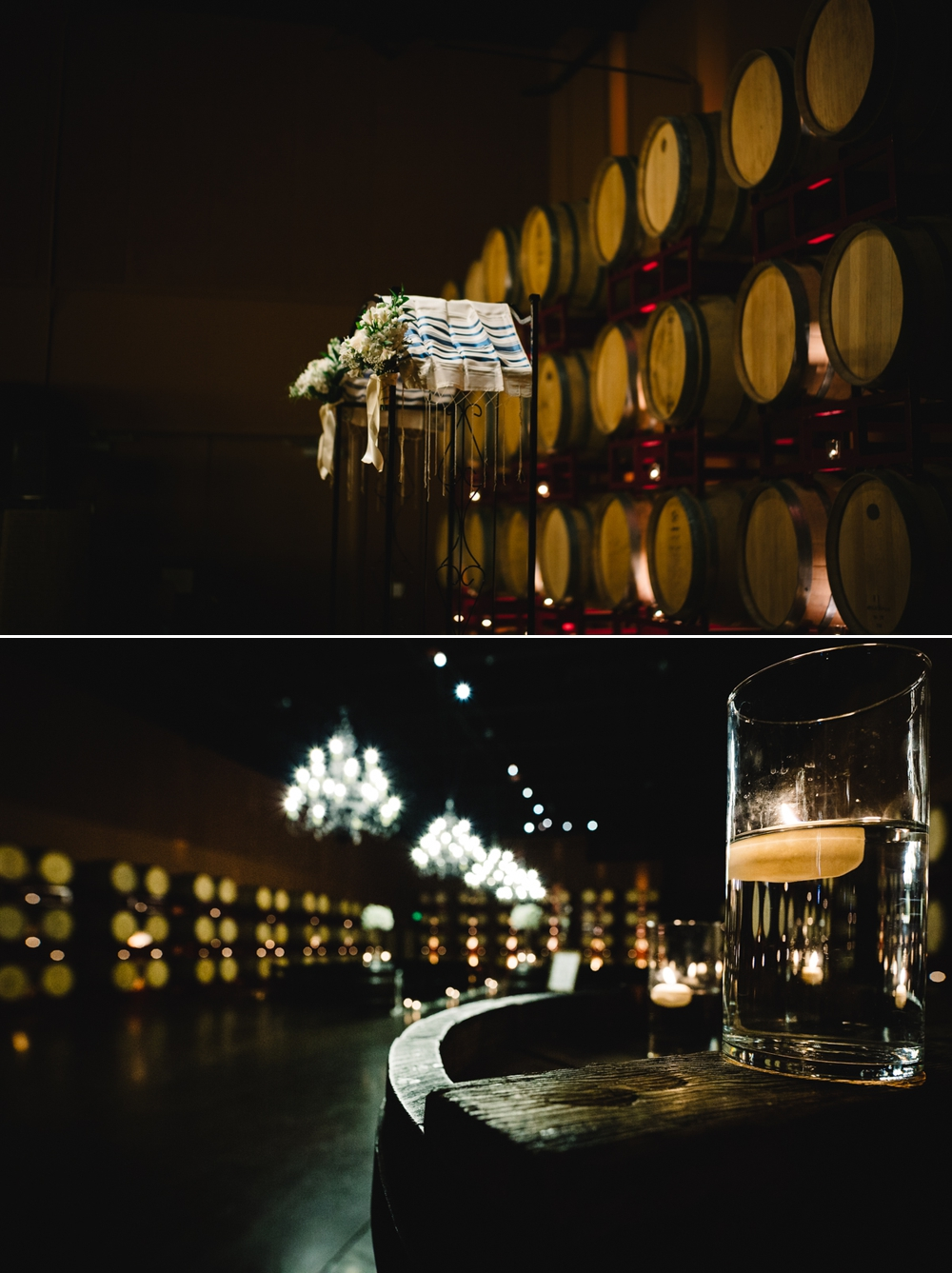 Palm Event Center Vineyard Wedding Indoor Barrel Room SF Photographers Myke Teri 23