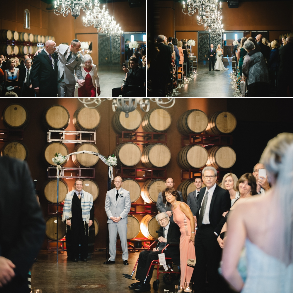 Palm Event Center Vineyard Wedding Indoor Barrel Room SF Photographers Myke Teri 26