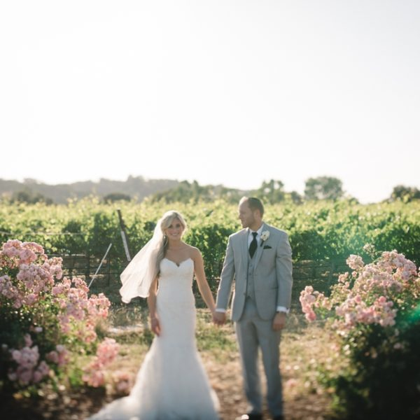 Danny + Danielle: Palm Tree Bliss Summer Wedding in Pleasanton, California