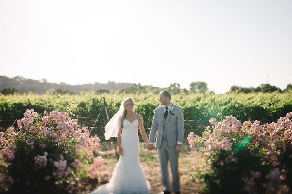 Palm Event Center Vineyard Wedding Indoor Barrel Room SF Photographers Myke Teri 31