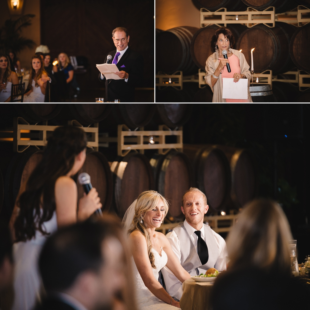 Palm Event Center Vineyard Wedding Indoor Barrel Room SF Photographers Myke Teri 37